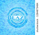 blaze light blue mosaic emblem | Shutterstock .eps vector #1284873484