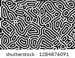 black and white line maze coral ... | Shutterstock . vector #1284876091