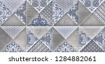 colorful digital wall tiles... | Shutterstock . vector #1284882061