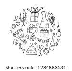 wedding round composition.... | Shutterstock .eps vector #1284883531
