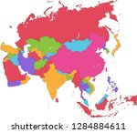 asia   political map of asia | Shutterstock .eps vector #1284884611