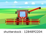 combine agricultural device... | Shutterstock .eps vector #1284892204