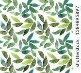 green leaves background.... | Shutterstock . vector #1284895897