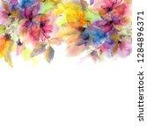watercolor flowers. floral... | Shutterstock . vector #1284896371