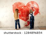 childrens  painted the... | Shutterstock . vector #1284896854