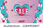 Stock vector happy valentine s day sale background banner poster or flyer design vector illustration with 1284903847