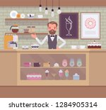 confectionery store  shop with...   Shutterstock .eps vector #1284905314