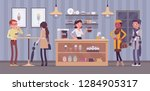 coffeehouse barista and coffee... | Shutterstock .eps vector #1284905317