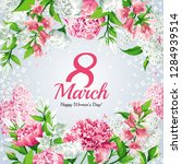 8 march women's day greeting... | Shutterstock .eps vector #1284939514
