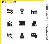 trade icons set with foreman ...