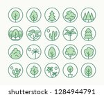 trees  plants freen line icon....