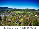 ostravice village in the beskid ... | Shutterstock . vector #1284950554