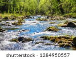 ostravice river spring as very... | Shutterstock . vector #1284950557