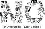 no t shirt. vector print ... | Shutterstock .eps vector #1284950857