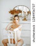 ballet and dance concept.... | Shutterstock . vector #1284956737