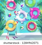 concept in flat style. summer... | Shutterstock .eps vector #1284962071