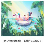 concept in flat style with... | Shutterstock .eps vector #1284962077
