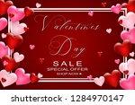 valentines day sale background...   Shutterstock .eps vector #1284970147