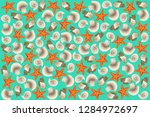 hand illustration of repeated... | Shutterstock .eps vector #1284972697