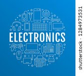 electronics circle poster with... | Shutterstock .eps vector #1284973531