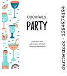 vector illustration with... | Shutterstock .eps vector #1284974194