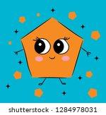 sweet  cute pentagon cartoon... | Shutterstock .eps vector #1284978031