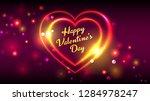 happy valentines day vector... | Shutterstock .eps vector #1284978247