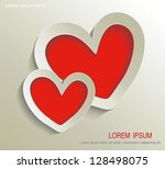 abstract happy valentines day   ... | Shutterstock .eps vector #128498075