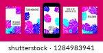 stories template design. tropic ... | Shutterstock .eps vector #1284983941