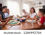three generation hispanic...   Shutterstock . vector #1284992704
