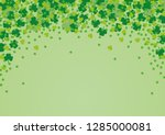 Vector Green Falling Clovers On ...