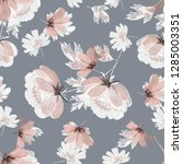 seamless pattern with flowers... | Shutterstock . vector #1285003351