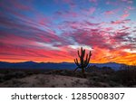 Vibrant Arizona Sunrise With...