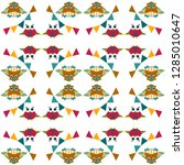 seamless childish pattern. owls ...   Shutterstock .eps vector #1285010647