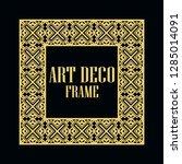 art deco vintage border frame.... | Shutterstock .eps vector #1285014091