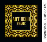 art deco vintage border frame.... | Shutterstock .eps vector #1285014121