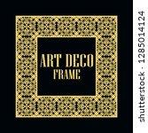art deco vintage border frame.... | Shutterstock .eps vector #1285014124