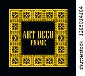 art deco vintage border frame.... | Shutterstock .eps vector #1285014184