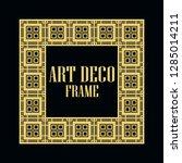 art deco vintage border frame.... | Shutterstock .eps vector #1285014211