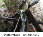 nature water flow wooden... | Shutterstock . vector #1285014817