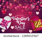 valentines day sale  discont... | Shutterstock .eps vector #1285015567