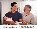 proud senior hispanic man... | Shutterstock . vector #1285016947