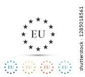 flag of european union icon... | Shutterstock .eps vector #1285018561