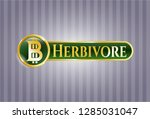 gold emblem or badge with... | Shutterstock .eps vector #1285031047
