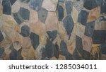 pattern of stone slab tiles...   Shutterstock . vector #1285034011