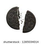 stuffed cookies and cream...   Shutterstock . vector #1285034014