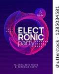 electronic fest. minimal... | Shutterstock .eps vector #1285034581