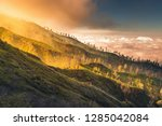 landscape of volcano forest and ... | Shutterstock . vector #1285042084