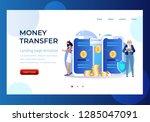 money transfer vector...