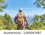 nature photographer take photos ... | Shutterstock . vector #1285047487
